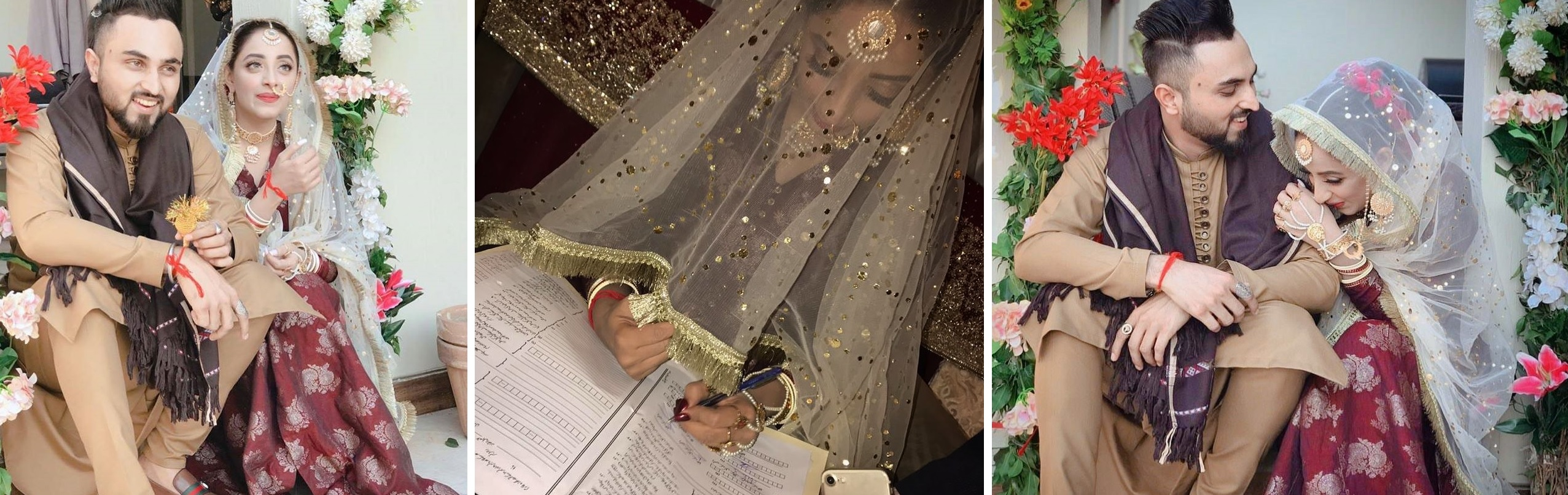 Sanam Chaudhry Actress Nikkah with Singer Somee Chohan Pictures