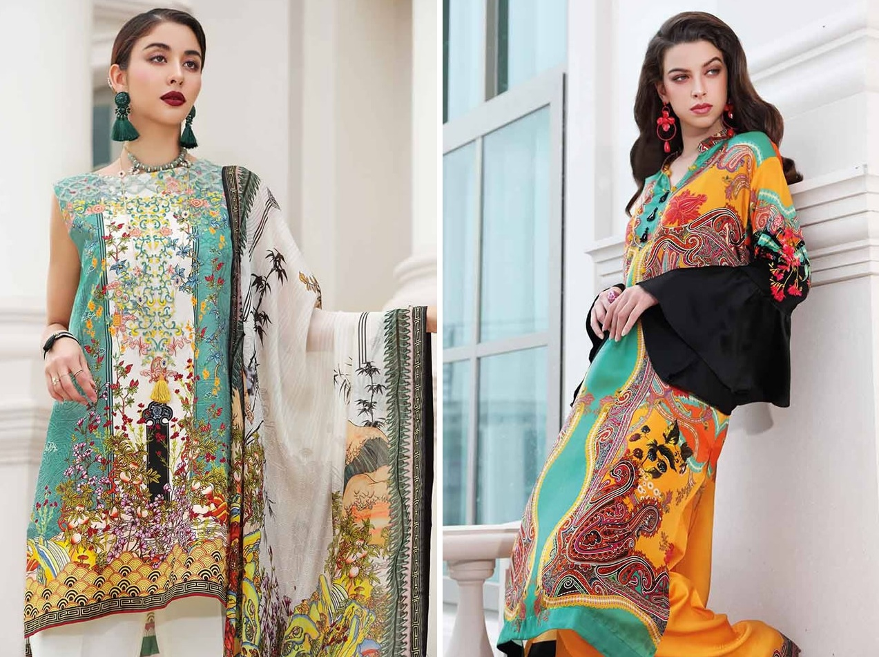LAMIS Digital Charmeuse Silk Dresses Collection 2020 By Gul Ahmed (1)