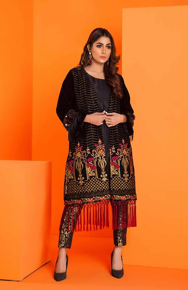 Velvet Embroidered Winter Wear Collection 2019-20 By Al-Zohaib (2)