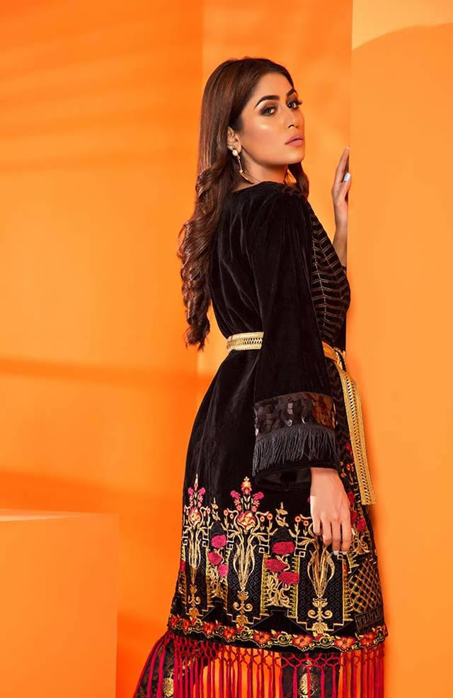 Velvet Embroidered Winter Wear Collection 2019-20 By Al-Zohaib (3)