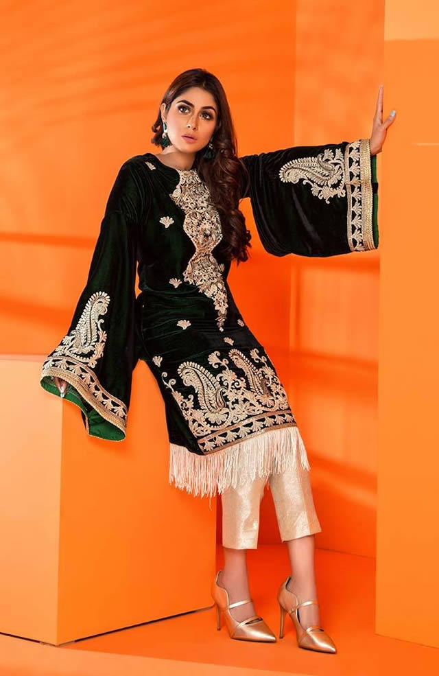 Velvet Embroidered Winter Wear Collection 2019-20 By Al-Zohaib (5)