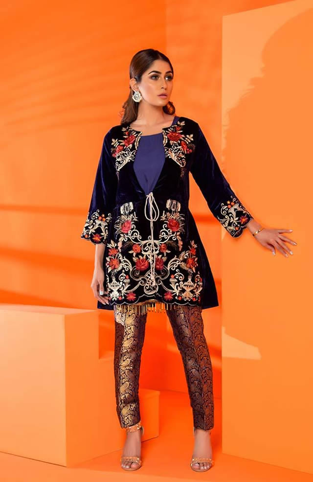 Velvet Embroidered Winter Wear Collection 2019-20 By Al-Zohaib (6)