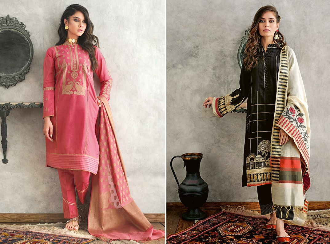 Jacquard Fabric Summer Collection 2020 By Gul Ahmed (1)