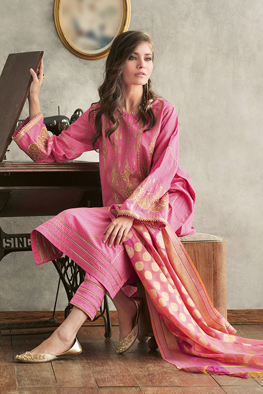 Jacquard Fabric Summer Collection 2020 By Gul Ahmed (4)