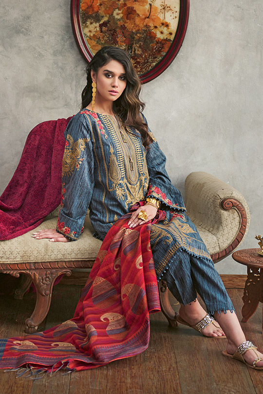 Jacquard Fabric Summer Collection 2020 By Gul Ahmed (6)