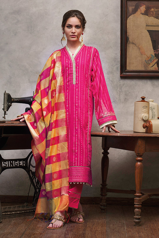Jacquard Fabric Summer Collection 2020 By Gul Ahmed (7)
