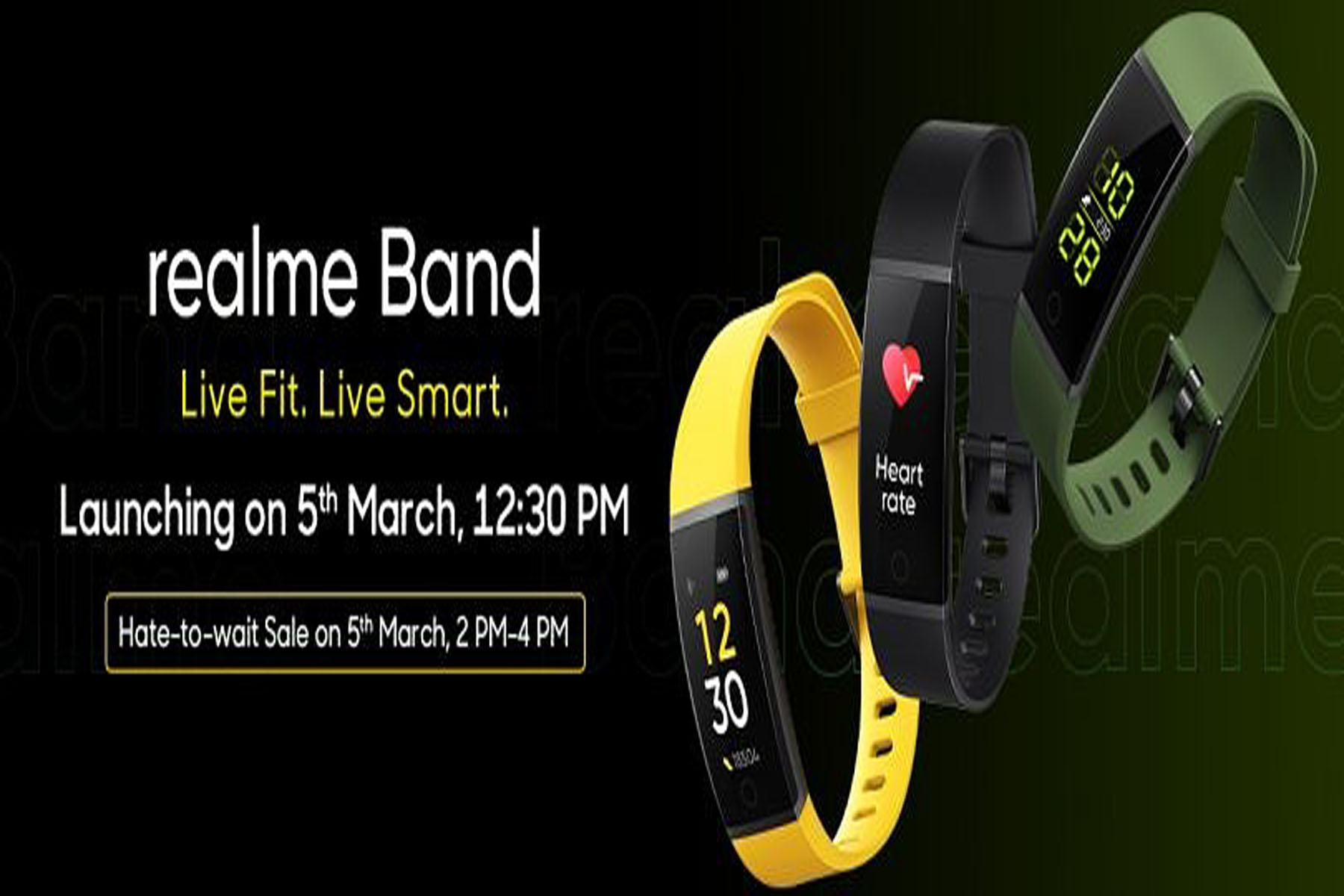 Realme Band launching on March 5