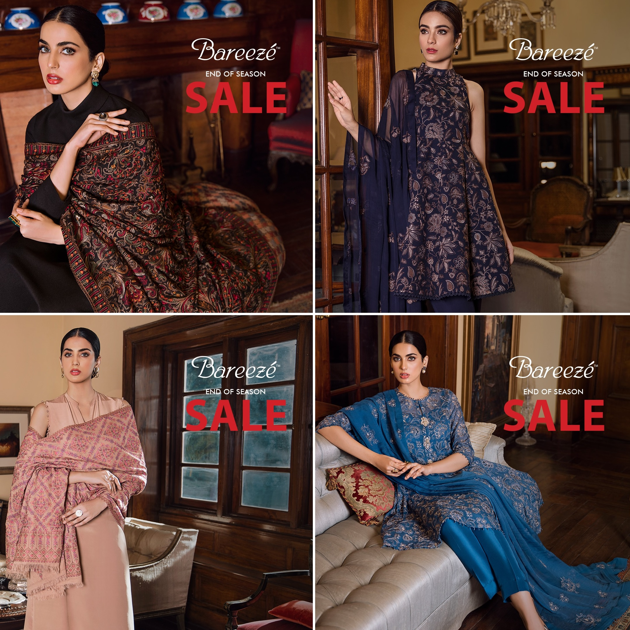 Bareeze end of season Fully embroidered Winter Collection 2021
