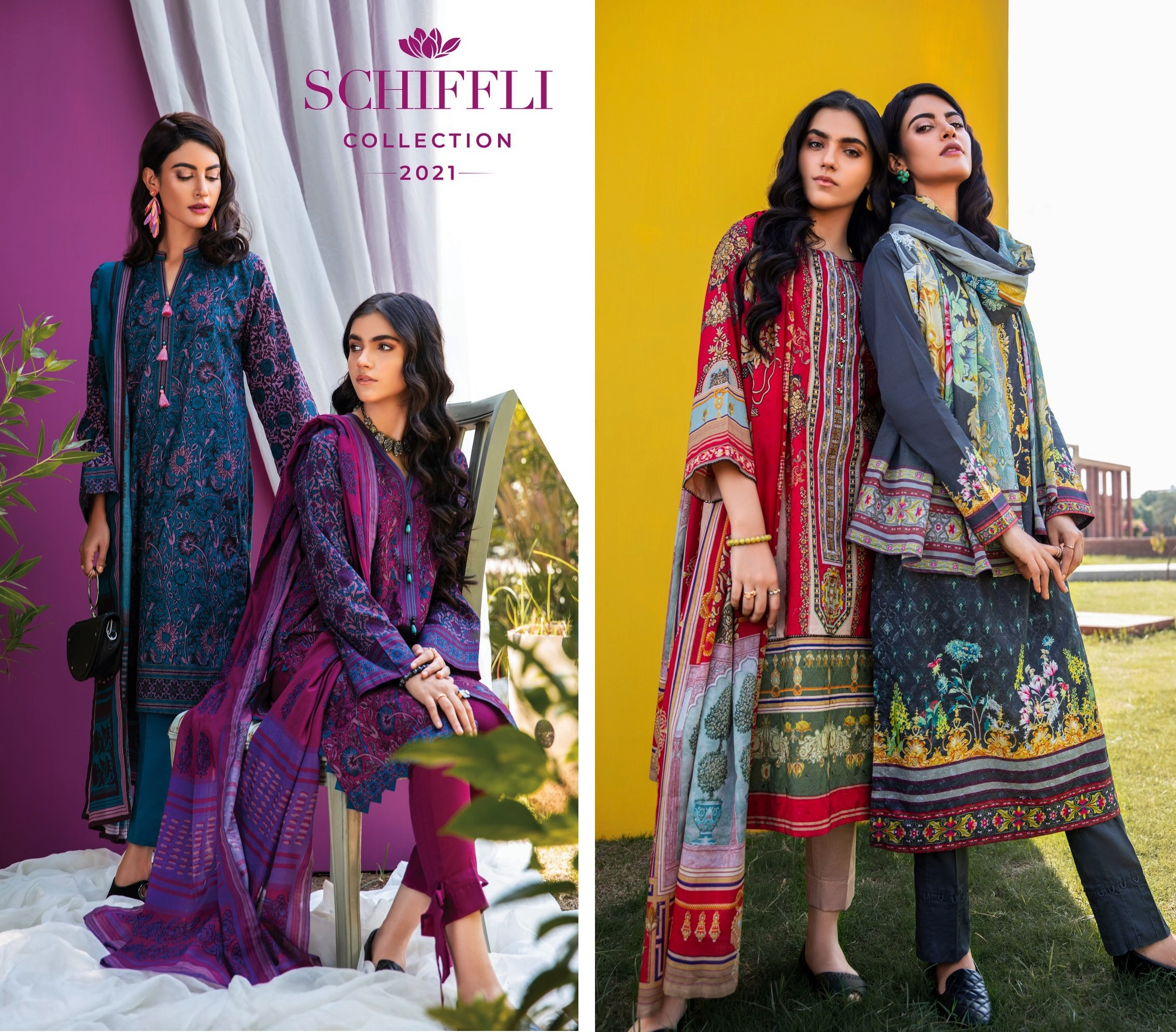 SCHIFFLI Womens Spring Wear Collection 2021 By Gulahmed