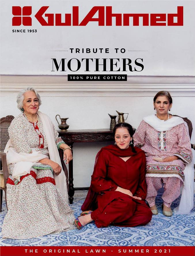 Tribute to Mothers Summer wears Collection 2021 By Gul Ahmed
