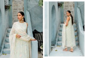 Unstitched Luxury Dresses Eid 2021 Collection By Cross Stitch (17)